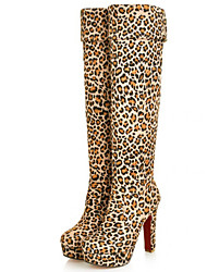 cheap -Women's Boots Spring / Fall / Winter Gladiator Fur Party & Evening / Dress / Casual Stiletto Heel Black / Coffee / Leopard