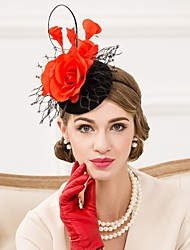 cheap -Women's Feather / Wool / Net Headpiece-Wedding / Special Occasion / Casual Fascinators / Hats 1 Piece
