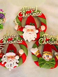 noël couronne décoration de Noël pour un diamètre de partie à la maison 20cm navidad nouvelles fournitures année