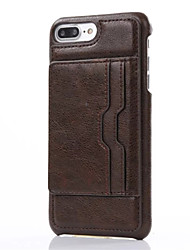 Per iPhone X iPhone 8 iPhone 7 iPhone 7 Plus iPhone 6 Custodie cover Porta-carte di credito Con supporto Custodia posteriore Custodia