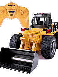 RC Car HUINA 1520 6 Channel 2.4G Truck Construction Truck Bulldozer 1:14 10 KM/H Remote Control Rechargeable Electric