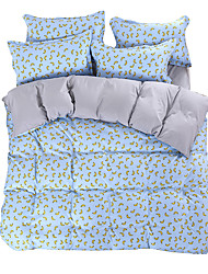Mingjie Wonderful Blue and Yellow Banana Bedding Sets 4PCS for Twin Full Queen King Size from China Contian 1 Duvet Cover 1 Flatsheet 2 Pillowcases