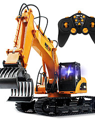 cheap -RC Car HUINA 16 Channel 2.4G Crawler Construction Truck Wood Grabbing Machine Excavator 1:12 KM/H Remote Control Rechargeable Electric
