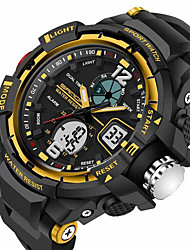 cheap -SANDA Men's Sport Watch Smartwatch Wrist Watch Digital Japanese Quartz 30 m Water Resistant / Water Proof Alarm Chronograph Silicone Band Analog-Digital Luxury Casual Fashion Black - Black Red Blue