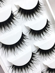 cheap -Eyelashes lash Full Strip Lashes Eyes Crisscross Thick Lifted lashes Volumized Handmade Fiber Black Band 0.10mm 15mm