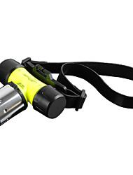 LS008 Torce LED Torce frontali Torce LED 1800 Lumens 3 Modo Cree XM-L T6 Batterie non incluse Resistente agli urti Ricaricabile