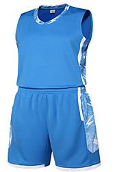 男性用 ノースリーブ レジャースポーツ バドミントン バスケットボール ランニング 洋服セット バギーショーツ 速乾性 高通気性