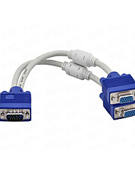 1 x VGA Male to 2 x VGA Female Cable VGA Splitter