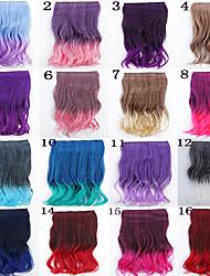 популярный новый двойной цвет фигурные косплей синтетические волосы продление