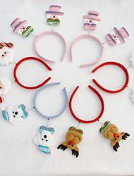 Недорогие -голова 10шт рождества пряжки рождества яркий ткань цвет головки пряжки украшения рождества партийные поставки