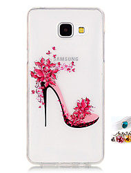 cheap -For Samsung Galaxy A5 A3 (2016) Cover Case High Heels Pattern Painting IMD Technology Tpu Material Phone Shell And Dust Plug Combination