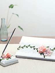 Satin Garden Theme Fairytale Theme Floral ThemeWithPetals Guest Book Pen Set