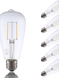 E26 LED Filament Bulbs ST21 2 COB 220 lm Warm White 2700 K Dimmable Decorative AC 110-130 V