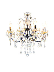 cheap -QINGMING® 8-Light Chandelier Uplight - Crystal, 110-120V / 220-240V Bulb Not Included / 15-20㎡ / E12 / E14