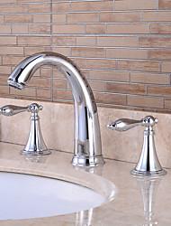 salle de bain évier robinets chromés en laiton contemporaine