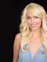 Long Wave Blonde Wig Cheap Synthetic Wigs For Women Best Natural Looking Hair Wig Womens Wig Synthetic
