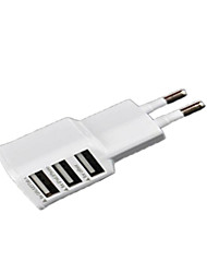 cheap -Home Charger Portable Charger Phone USB Charger EU Plug Fast Charge Multi Ports 3 USB Ports 2A AC 100V-240V For Cellphone For Tablet