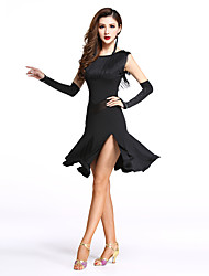 cheap -Shall We Latin Dance Dresses Women Spandex / Split / Tassel Dance Costumes