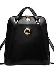 M.Plus® Women's Fashion Korean Barrel PU Leather Backpack