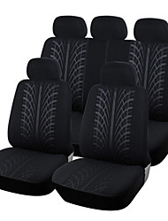 cheap -AUTOYOUTH New Looped Fabric Full Car Seat Cover Universal Fit Most Brand Vehicles Seat Covers Black Car Seat Protector