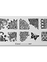 cheap -1 pcs Stamping Plate Template Fashion Daily / Steel