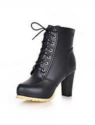 Women's Boots Spring Fall Winter Platform Comfort Novelty Patent Leather Leatherette Wedding Office & Career Party & Evening Dress Casual