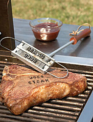 cheap -1PC New BBQ Meat Branding Iron with Changeable 55 Letters Grill Steak Meat Barbecue bbq Tongs Tool Sets