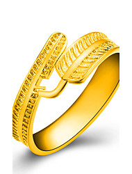 preiswerte -Damen Ring Schmuck Gold Blattform Modeschmuck Hochzeit Party Alltag Normal