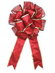 Недорогие -1шт красный большие рождественские украшения ручной работы двухъярусной рождественские бабочка букет