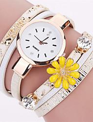 Xu™ Dámské Módní hodinky Náramkové hodinky Křemenný PU Kapela Retro Květiny Přívěsek Běžné nošení Černá Bílá Modrá Červená ŠedáBílá Černá