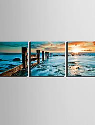 canvas Set Paisagem Estilo Europeu,3 Painéis Tela Quadrangular Impressão artística wall Decor For Decoração para casa