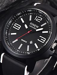 levne -Pánské Sportovní hodinky Náramkové hodinky Křemenný Silikon Černá Kalendář Cool Analogové Žlutá Červená Modrá / Nerez