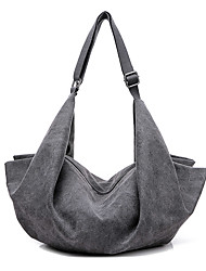 Women Bags Canvas Shoulder Bag for Casual All Seasons White Gray Brown Blue