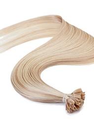 economico -neitsi 16 '' 25g estensioni dei capelli dell'uomo dritto pre u legata p18 capelli di qualità punta del chiodo di Remy AAAAA / 613 #