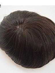 mens parrucchino 8x10 uomini capelli veri mono basato unità di elaborazione intorno mono invisibile basa dritto traspirante linea sottile