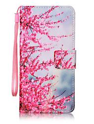 preiswerte -Hülle Für Samsung Galaxy A5(2016) / A3(2016) Geldbeutel / Kreditkartenfächer / Flipbare Hülle Ganzkörper-Gehäuse Blume Hart PU-Leder für A5(2016) / A3(2016)