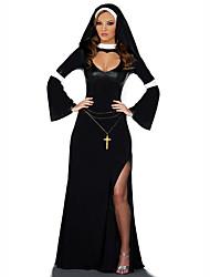 Costumi di carriera Costumi Cosplay Vestito da Serata Elegante Donna Halloween Natale Feste/vacanze Costumi Halloween Nero Con stampe