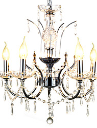 cheap -Chandelier ,  Traditional/Classic Chrome Feature for Crystal Metal Bedroom Dining Room Hallway