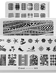 Недорогие -1шт прямоугольные элементы печатной формы маникюру