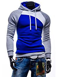 economico -Per uomo Taglia piccola Sport Attivo Manica lunga Felpa con cappuccio Monocolore