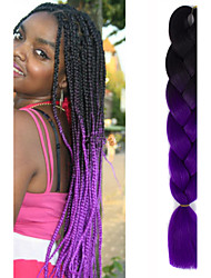 Недорогие -Волосы для кос Вязаные Крупные косы 100% волосы канекалона / Kanekalon 1, 1 шт. косы волос Омбре Коса с омбре