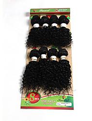 Недорогие -Натуральные волосы Бразильские волосы Человека ткет Волосы Волнистые Вьющиеся волосы Наращивание волос 1 шт. Черный