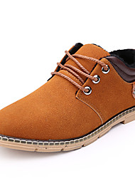 Men's Boots Spring Fall Winter Suede Outdoor Office & Career Casual Flat Heel Lace-up Black Navy Blue Light Brown