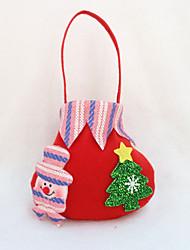 4pcs natal saco do presente doces partido saco fornece saco de presentes maçã natal (estilo aleatório)