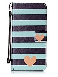 Недорогие -Для Кошелек / Бумажник для карт / со стендом / Флип Кейс для Задняя крышка Кейс для С сердцем Твердый Искусственная кожа для AppleiPhone