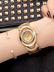 cheap -Women's Quartz Wrist Watch Bracelet Watch Skeleton Watch Rhinestone / Imitation Diamond Alloy Band Charm Sparkle Vintage Casual Dress