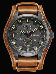 cheap -CURREN Men's Wrist watch Military Watch Dress Watch Fashion Watch Sport Watch Japanese Japanese Quartz Calendar / date / day Water