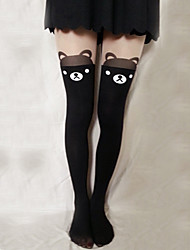 cheap -Socks / Long Stockings Thigh High Socks Sweet Lolita Dress Lolita Lolita Women's Lolita Accessories Print Bear Stockings Velvet