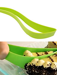 cheap -Plastic Cake Server Knife Perfect Slicer Green Cheese Pie Cutter Kitchen