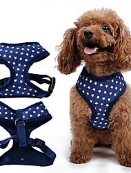 cheap -Dog Harness Adjustable/Retractable Stars Black / Green / Blue / Pink Fabric